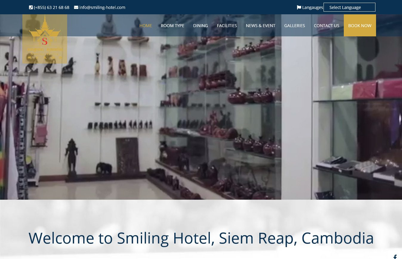 Screenshot 2019 07 17 Home Smiling Hotel, Siem Reap, Cambodia